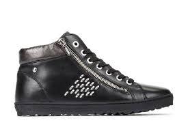 high top sneaker women black