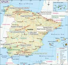 spain map printable and detailed map of spain