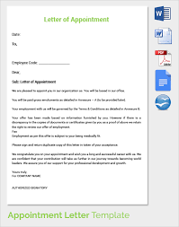 Letter Appointment Template