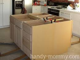 kitchen elegant diy kitchen island ideas bench cabinets diy regarding stylish residence how to make kitchen island from cabinets remodel