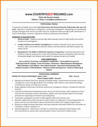 12 Awesome Resume Format For Security Officer Resume Sample