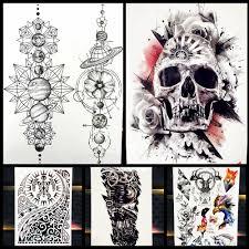 большой для боди арта рукава временная татуировка наклейка форсаж