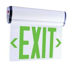 Edge Lit Exit Light Elco Lighting Edglit1g Transparent Led Edge Lit Exit Sign