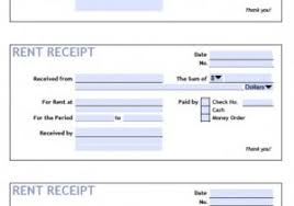 Fillable Rent Receipt Template Rent Receipt Pdf Fillable Format