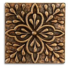 Decorative Metal Tile Accents DONATELLA 100x100 Inch Pewter Tile Aged Brass Metal Tile Accent Tiles 2