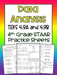 Teks 4 9a And 4 9b Data Analysis 4th Grade Staar Practice Sheets