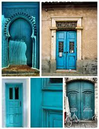 turquoise front doorExterior Doors  House Appeal
