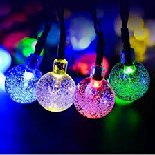 Festoon Fairy Lights 12 Warm WhiteSolar Powered Garden Lights Uk