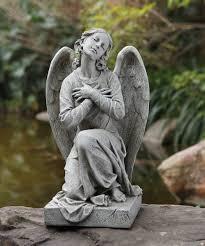 angel garden statue. kneeling angel garden statue - 21.25\u0026quot; a
