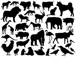 無料イラスト 動物のシルエットイラスト
