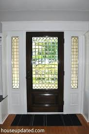 leaded glass front doors leaded glass front door interior stained walnut white trim stained glass front