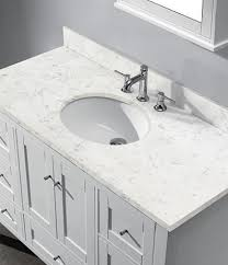 neoteric design 48 inch bathroom vanity with top home decor madeli torino matte white stone countertop in and sink mirror