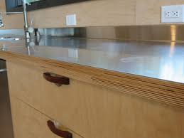 Kitchen Cabinet Laminate Veneer Stainless Steel Laminated To Baltic Birch Woodwebs Laminating