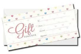 Luxury Generic Gift Voucher Certificate Blank Gift Card Dl