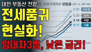 대전에도 전세품귀현상이 현실로... 임대차3법, 낮음 금리 등! 대전 부동산 전망!