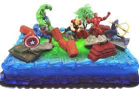 Amazoncom Avengers 15 Piece Birthday Cake Topper Set Featuring