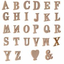 letters plaque alphabet wall wooden