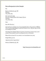 Resignation Letter Nursing Nurse Resignation Letter Due To Personal ...