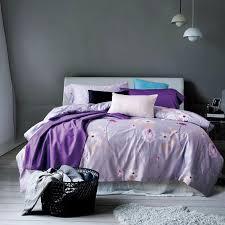 tribute silk egyptian cotton bed sheet set purple blue green bedding set queen king size duvet cover set pillowcases queen size comforter sets on