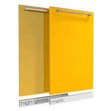 sunny yellow matt or high gloss cabinet doors