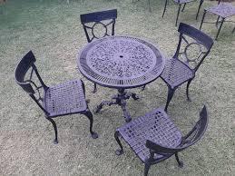 cast aluminium four seater patio set
