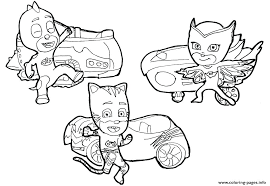 Pj Masks Printable Coloring Pages Mask Coloring Pages Cute For Kids