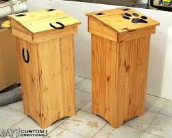 wooden trash bin cool wooden trash cans from double wooden trash bin for kitchen