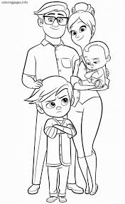 The Boss Baby Family Coloring Page Coloring Pages Baby Regarding