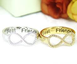 best friends ring women s infinity ring engraved ring jewelry gold silver plated