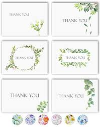 Blank Thank You Notes Thank You Cards 36 Watercolor Floral Thank You Notes Box Set With 40 White Envelopes And Bonus Stikers Blank Inside Perfect For Wedding Baby