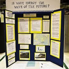 science fair project displayed on an elmers tri fold display board