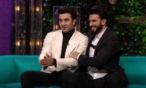 Image result for ranbir and ranveer together in one frame koffee with karan