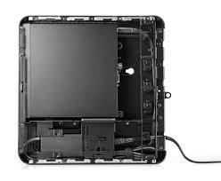 hp desktop mini lockbox with mini pc inside aerial top