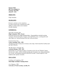 Sample Resume For Flight Attendant With No Experience 15 Cabin Crew