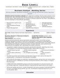 Business Analyst Resume Samp Ideal Entry Level Business Analyst