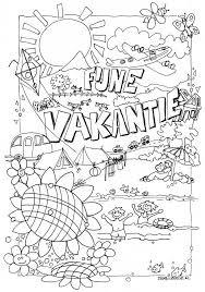 Fijne Vakantie Kleurplaat Einde Schooljaar Pinterest