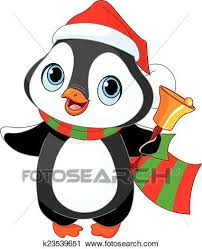 cute christmas penguin drawing. Contemporary Christmas Cute Christmas Penguin With Jingle Bell And Penguin Drawing E