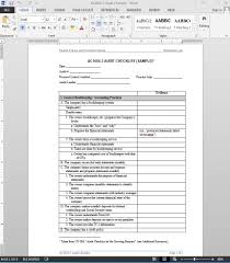 Audit Checklist Template Financial Audit Checklist Template AC2424 1