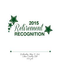 Cover Letter Retirement Recognition Retirement Recognition Program