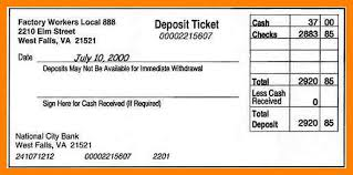 deposit slip examples 11 deposit slips examples resigning letter