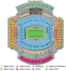 Alabama Seating Chart Bryant Denny Bryant Denny Stadium Seating Chart Bryant Denny Stadium