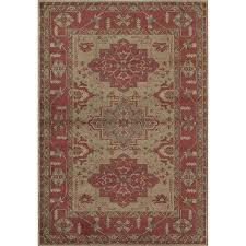 rugs america ziegler cherry indoor area rug common 5 x 8 actual