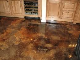 wood kitchen cabinets & stained concrete floors | 20 Photos of the How to Stain  Concrete