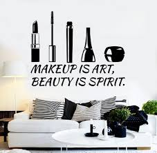 Beauty Salon Quotes And Sayings Best Of Vinyl Wall Decal Beauty Salon Quote Cosmetics Makeup Stickers Unique