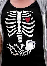 skeleton and baby