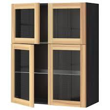 ikea hanging cabinets. Perfect Ikea IKEA METOD Wall Cabinet W Shelves4 Glass Drs Sturdy Frame Construction 18  Mm And Ikea Hanging Cabinets
