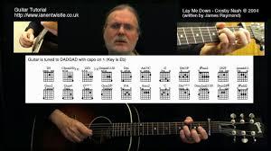 Lay Me Down Chord Chart Lay Me Down Crosby Nash Guitar Lesson Dvd And Tab