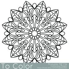 Snowflake Mandala Coloring Pages Wwwgalleryhipcom Snowflake Mandala