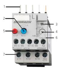 egyptian group Wiring Motor Overloads (3) switch position indicator and test function of the wiring (4) motor current setting (5) stop button (6) transparent, sealable cover secures the motor Electrical Overload