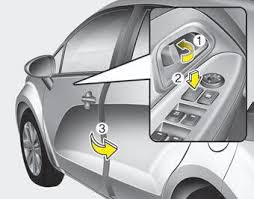 to lock a door without the key push the inside door lock on 1 or central door lock switch 2 if equipped to the lock position and close the door
